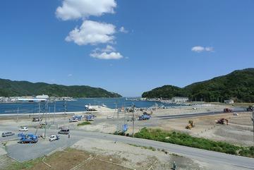 女川町中心部(鷲神浜地区)の道路切替