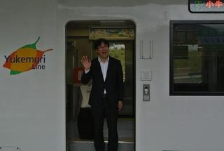 城井さんを女川駅でお見送り!