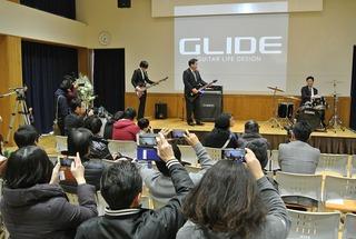 GLIDEの新エレキギター受注開始式