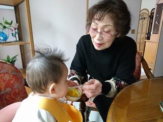 仙台の実家で離乳食