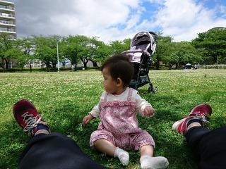 開成山公園でお散歩!