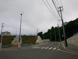 駅からの役場までの道路が通行開始に!