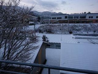 雪の三陸道