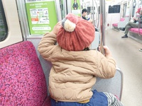 地下鉄で父娘さんぽ!