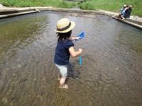 笊川で水遊び!