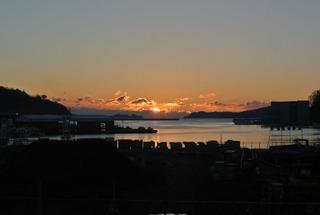 女川湾からの日の出!