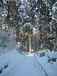 雪の亀岡文殊