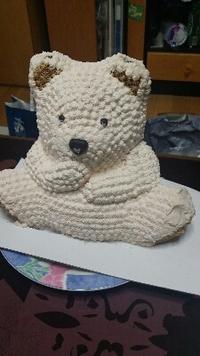クマのクリスマスケーキ