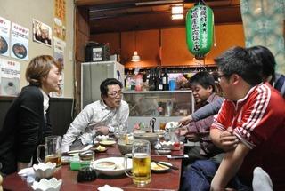 白石の餃子の店「きしや」さんで飲み会!