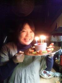 しんさんで、誕生日お祝い☆