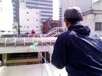 「毛糸の屋根」設置開始!