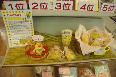 吉川屋に咲き誇るひまわりを見て思ふ。