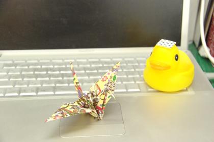 折り鶴を折ってみた!