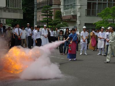 吉川屋の消防訓練!