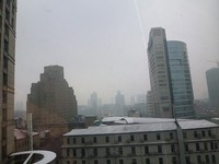 上海は、雪模様